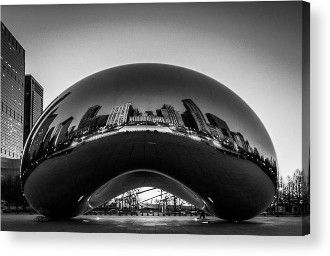 Acrylic Print featuring the photograph Cloudgate4 by Sue Conwell
