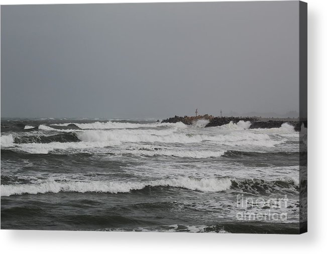 Clouds Acrylic Print featuring the photograph Cloudy Sea by BloodFire