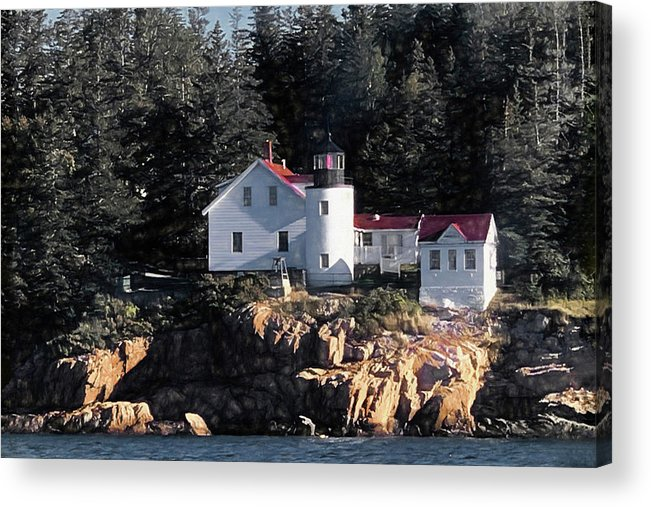 Curtis Island Acrylic Print featuring the photograph Curtis Island Lighthouse by Donna Kennedy