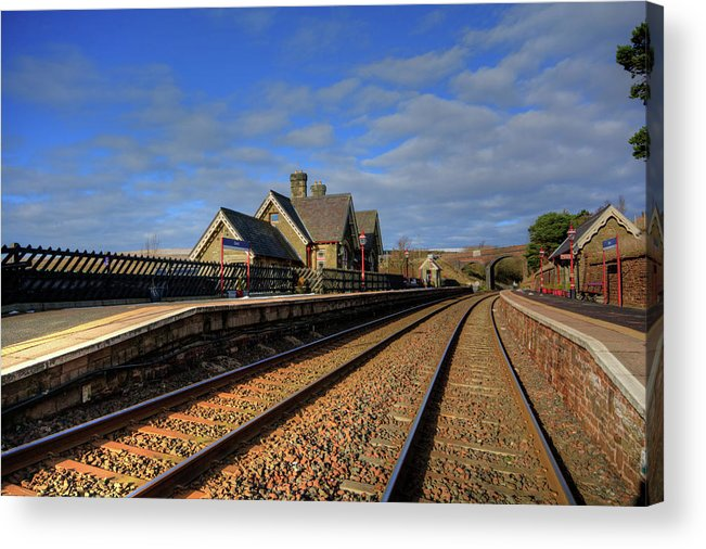 Dent Station Acrylic Print featuring the mixed media Dent Station by Smart Aviation