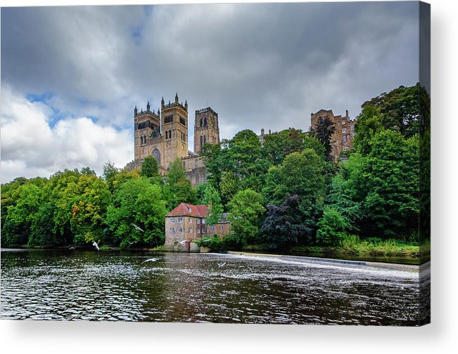 Durham Cathedral Acrylic Print featuring the mixed media Durham Cathedral by Smart Aviation