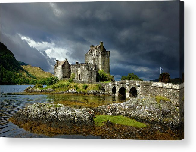 Outdoors Acrylic Print featuring the photograph Eilean Donan Castle, Scotland by Daryl Benson