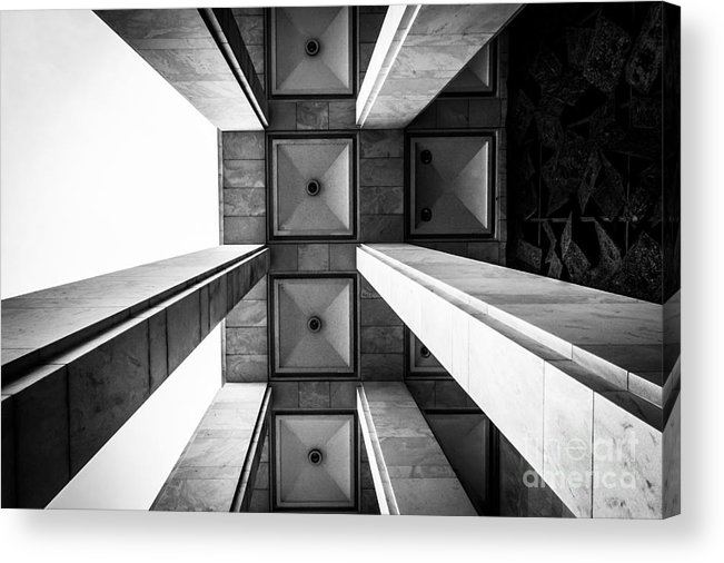 Pillars Acrylic Print featuring the photograph Exterior Architecture Details Of The by Esb Professional