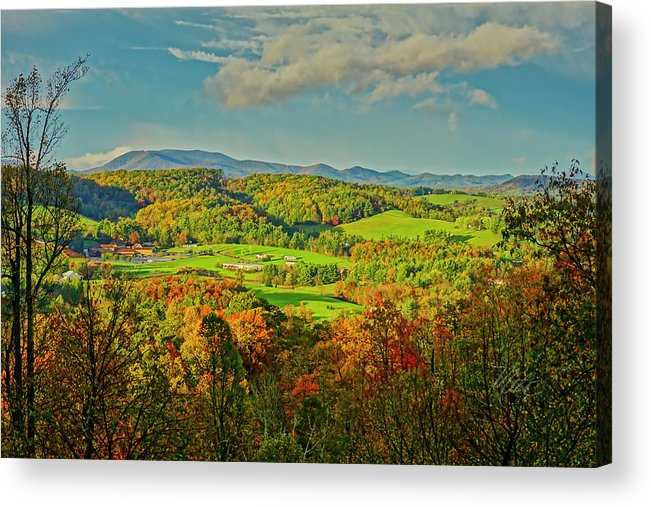 Mount Jefferson Acrylic Print featuring the photograph Fall Porch View by Meta Gatschenberger