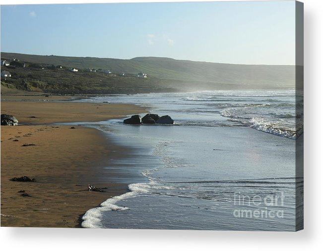 Beach Fanore Clare Ireland Eire Photography Seascape Landscape Prints Pskeltonphoto Acrylic Print featuring the photograph Fanore Beach Clare by Peter Skelton