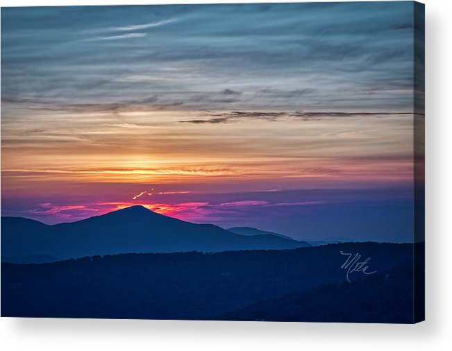 Sunset Acrylic Print featuring the photograph Flaming Sunset by Meta Gatschenberger