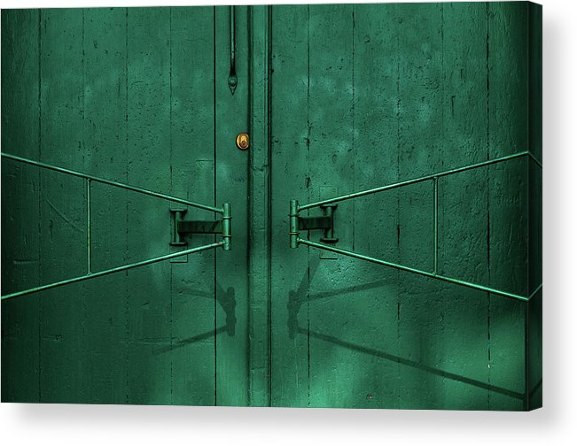 Architecture Acrylic Print featuring the photograph Gate Detail by Inge Schuster