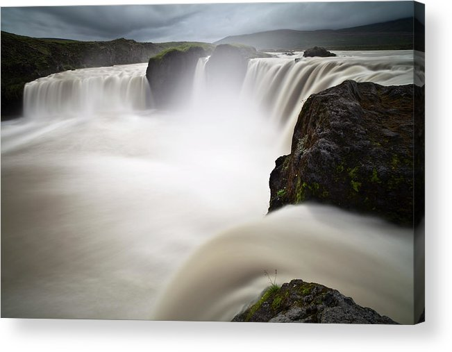 Scenics Acrylic Print featuring the photograph Godafoss by Wild-places