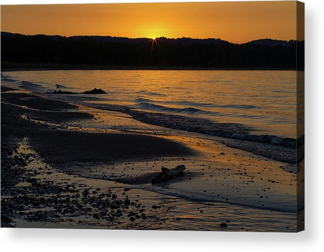 Sleeping Acrylic Print featuring the photograph Good Harbor Bay Sunset by Heather Kenward