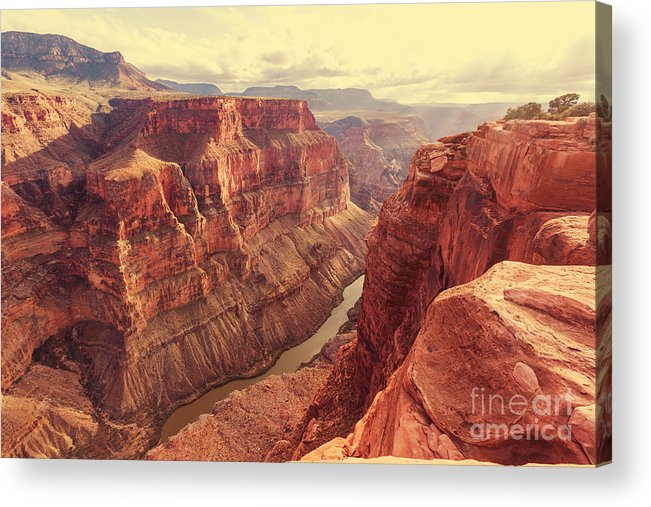 Serenity Acrylic Print featuring the photograph Grand Canyon by Galyna Andrushko