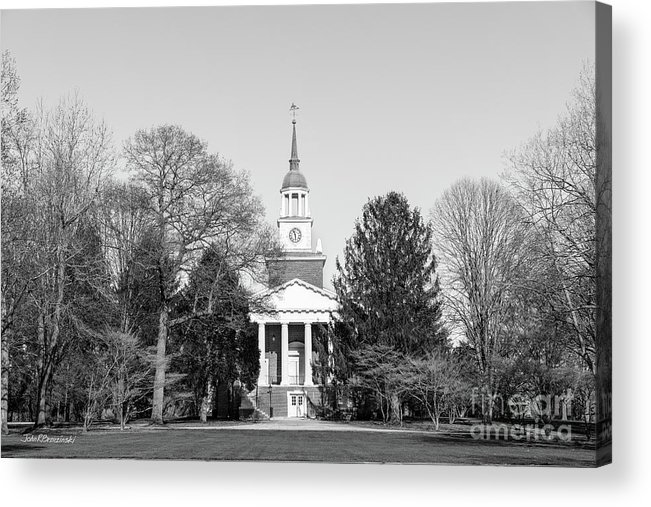 Hanover Acrylic Print featuring the photograph Hanover College Parker Auditorium by University Icons