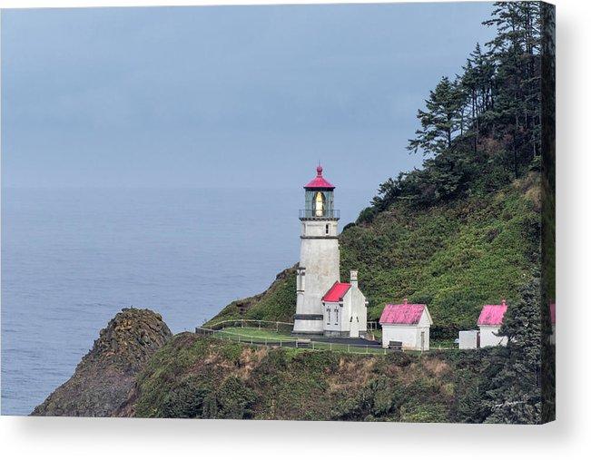 Heceta Head Lighthouse Acrylic Print featuring the photograph Heceta Head Lighthouse by Jurgen Lorenzen