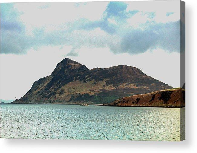 Arran Acrylic Print featuring the photograph Holy Isle, Off Lamlash Bay - Isle Of by David Falconer