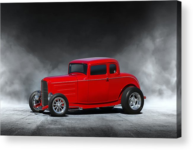 1932 Ford Acrylic Print featuring the digital art Hot Rod by Peter Chilelli