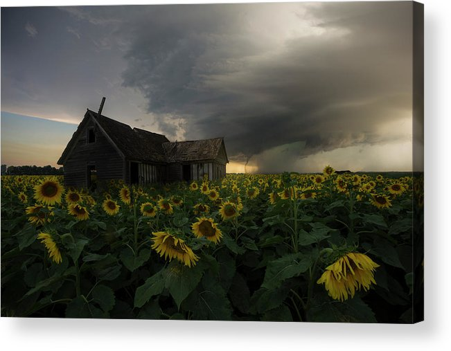 Tornado Acrylic Print featuring the photograph How Can I Be Lost If I've Got Nowhere To Go by Aaron J Groen