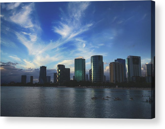 Oahu Acrylic Print featuring the photograph I Gently Let It Go by Laurie Search