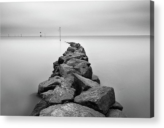 Tranquility Acrylic Print featuring the photograph Jetee by David Augustin