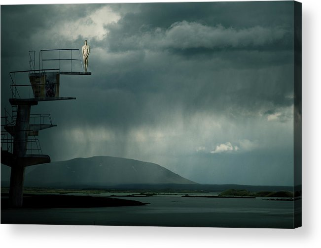 Diving Tower Acrylic Print featuring the photograph Jumping Jack by Christine Von Diepenbroek