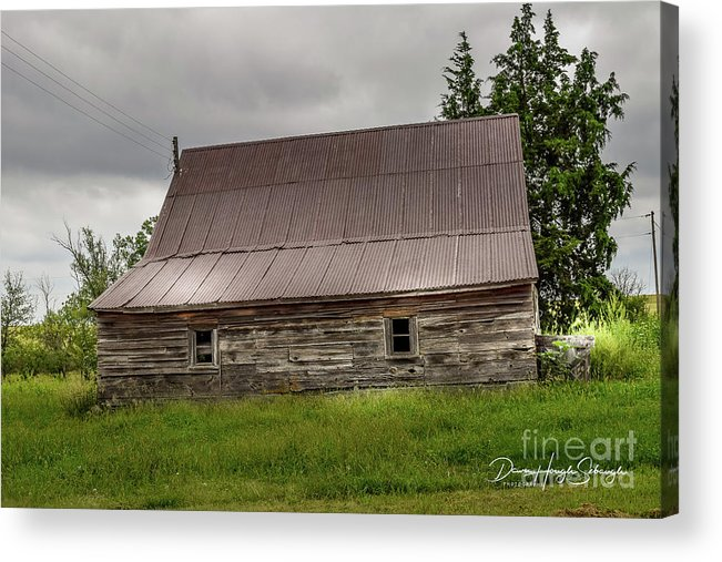 Heartland Acrylic Print featuring the photograph Kansas Barn by Dawn Hough Sebaugh