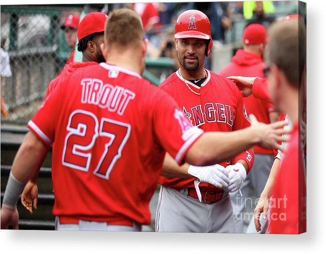 People Acrylic Print featuring the photograph Los Angeles Angels Of Anaheim V Detroit by Gregory Shamus