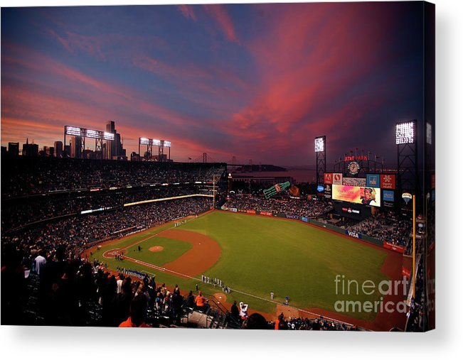San Francisco Acrylic Print featuring the photograph Los Angeles Dodgers V San Francisco by Ezra Shaw