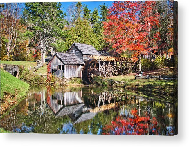 Blue Ridge Parkway Acrylic Print featuring the photograph Mabry Mill by Meta Gatschenberger