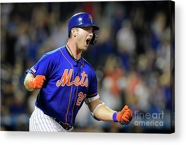 Three Quarter Length Acrylic Print featuring the photograph Miami Marlins V New York Mets - Game Two by Steven Ryan