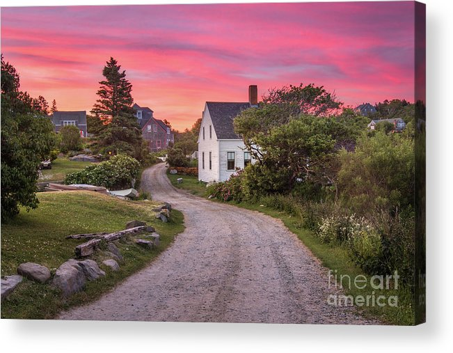Art Acrylic Print featuring the photograph Monhegan Island Maine by Benjamin Williamson