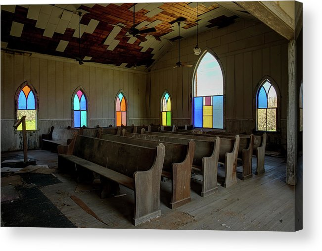 Texas Acrylic Print featuring the photograph No More Sermons by Harriet Feagin