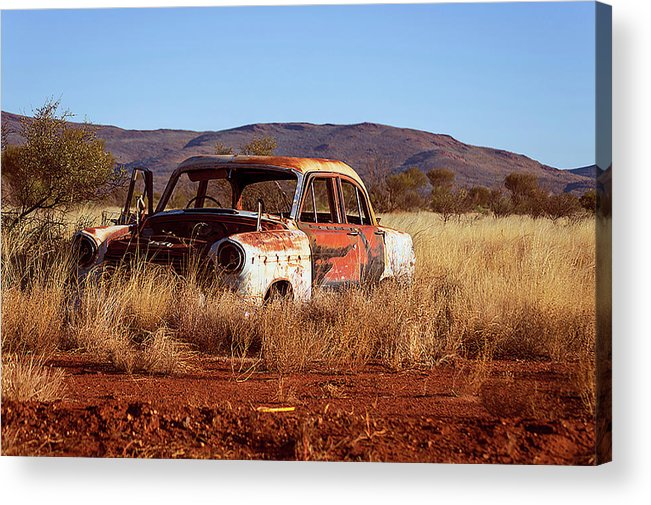 Transportation Acrylic Print featuring the photograph Old Wreck by Mark Vegera