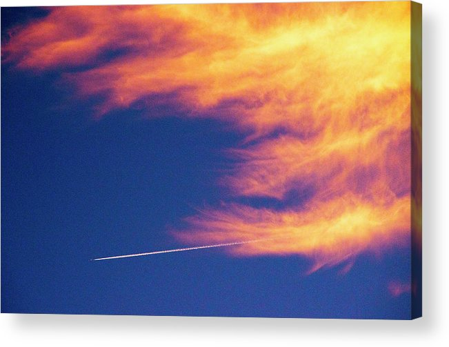 D1-l-1076-d Acrylic Print featuring the photograph Out Racing The Devil by Paul W Faust - Impressions of Light