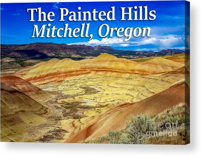 Painted Hills Acrylic Print featuring the photograph Painted Hills 01 by G Matthew Laughton
