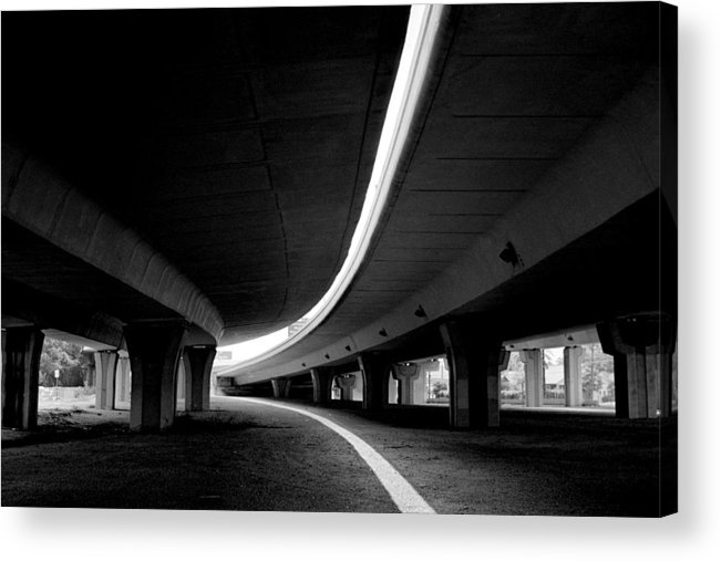 Freeway Acrylic Print featuring the photograph Reflection In Shadow by Edward Swearingen
