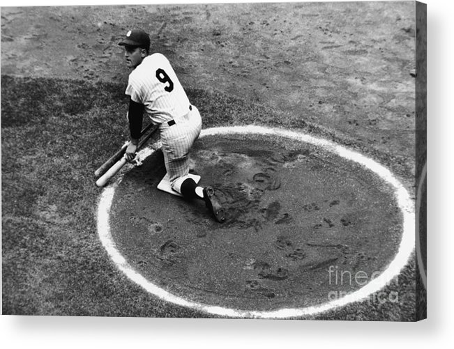 On-deck Circle Acrylic Print featuring the photograph Roger Maris On Deck by Robert Riger