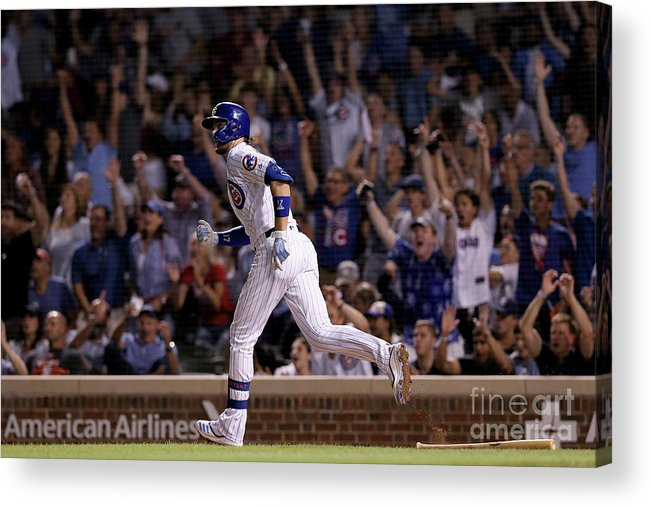 People Acrylic Print featuring the photograph San Francisco Giants V Chicago Cubs by Dylan Buell