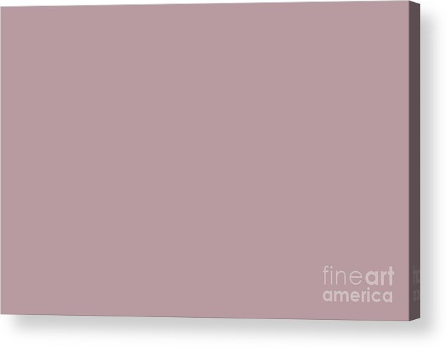 Sherwin Williams Trending Colors Of 2019 Orchid Soft Muted Pink Sw 0071  Solid Color Acrylic Print