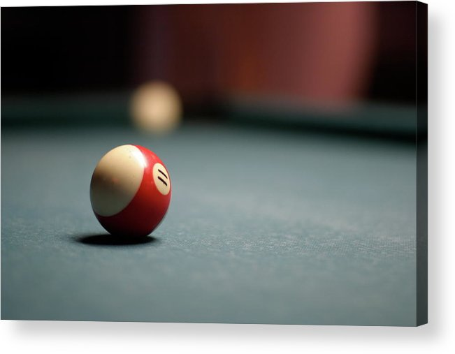 Snooker Acrylic Print featuring the photograph Snooker Ball by Photo By Andrew B. Wertheimer
