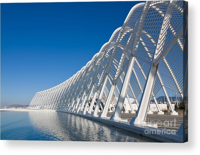 Steel Acrylic Print featuring the photograph Steel Archway At Stadium In Greece by Pnik