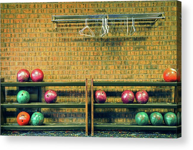 Coathanger Acrylic Print featuring the photograph Still Life With No Glow In Dark Balls by E. Treffly Coyne