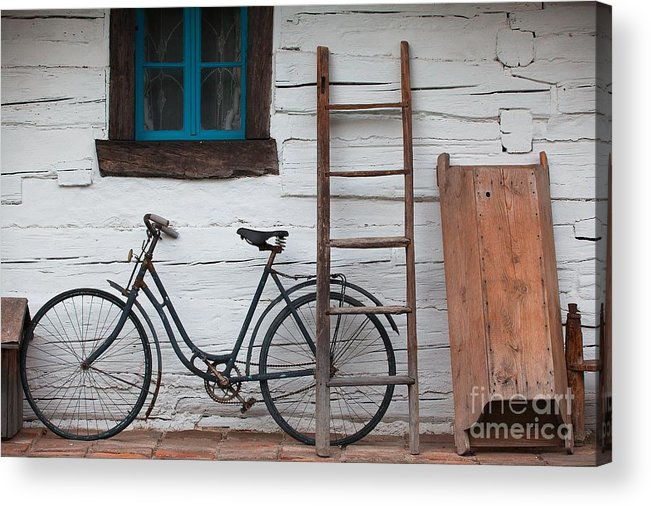 Tub Acrylic Print featuring the photograph Still Life With Old Barn by Radomir Rezny