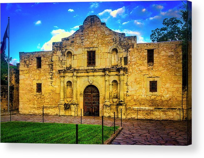 The Alamo Acrylic Print featuring the photograph The Alamo Mission by Garry Gay