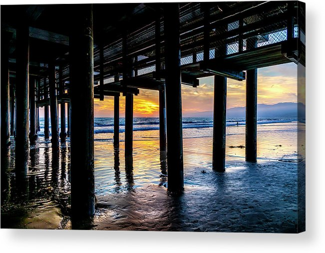 Under The Pier Acrylic Print featuring the photograph The Light Downunder by Gene Parks