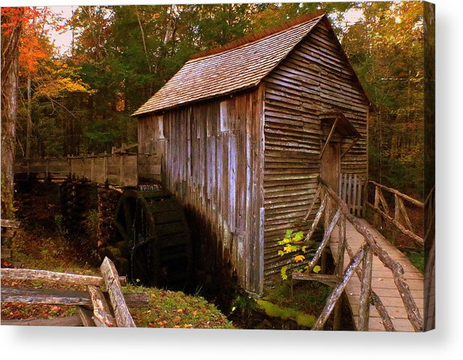 Grist Acrylic Print featuring the photograph The Old Grist Mill by Scott Heaton