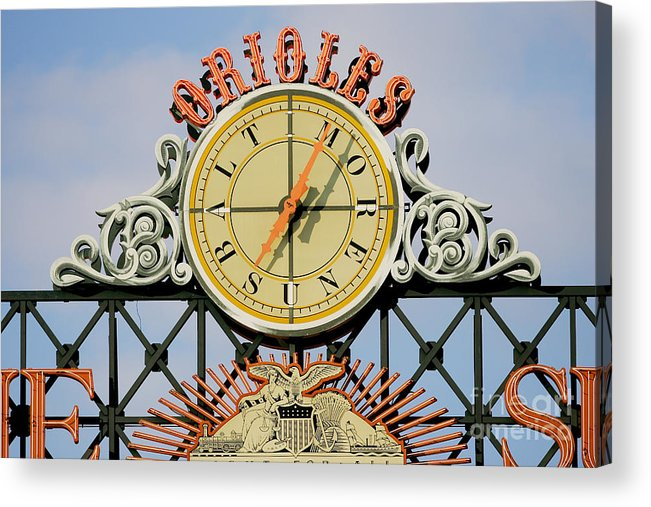 American League Baseball Acrylic Print featuring the photograph Toronto Blue Jays V Baltimore Orioles by Jamie Squire
