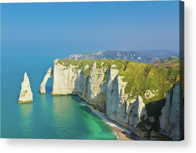 Scenics Acrylic Print featuring the photograph Étretat by Photograph By G.l. Cheng