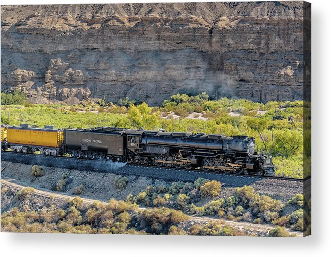 Afton Canyon Acrylic Print featuring the photograph Up4014 Big Boy 1 by Jim Thompson