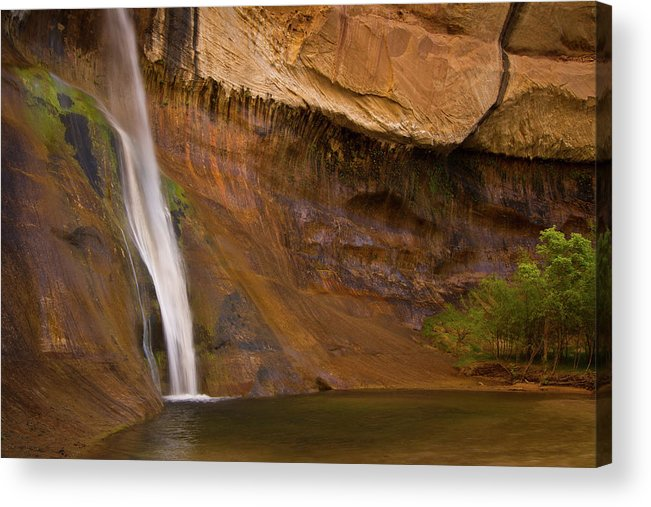 Tranquility Acrylic Print featuring the photograph Waterfall Of Calf Creek Falls by Alice Cahill