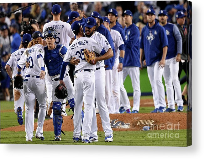 People Acrylic Print featuring the photograph World Series - Houston Astros V Los by Kevork Djansezian