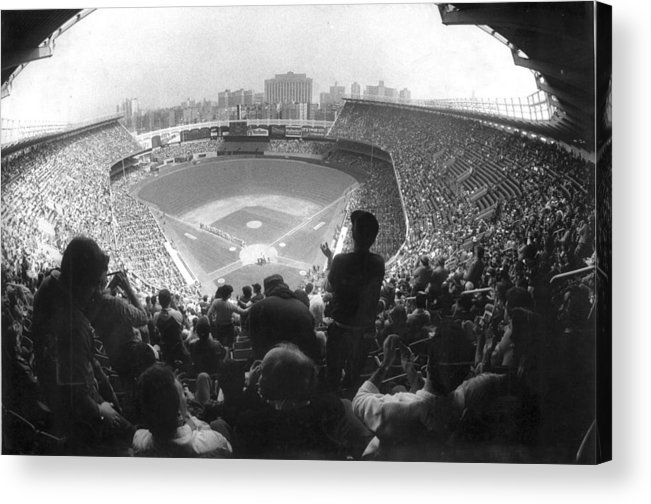 1980-1989 Acrylic Print featuring the photograph Yankee Stadium Is Packed For The New Y by New York Daily News Archive