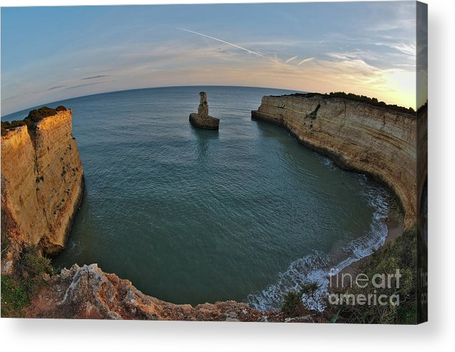 Beach Acrylic Print featuring the photograph Yellow Submarine Bay In Lagoa by Angelo DeVal